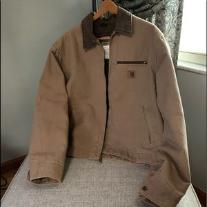 Carhartt canvas and wool jacket
